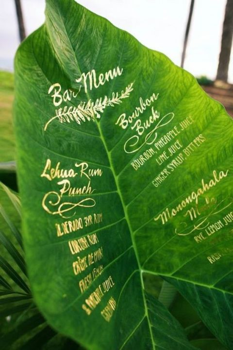 tropical Menu
