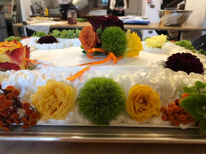 torta fiori gialli