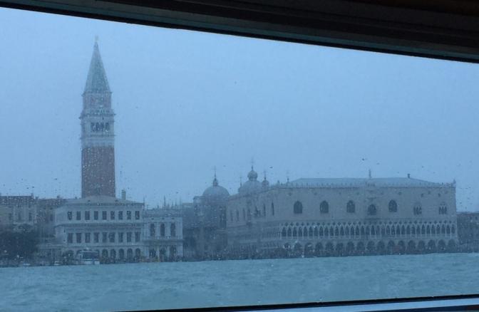 Laguna di Venezia un una giornata uggiosa
