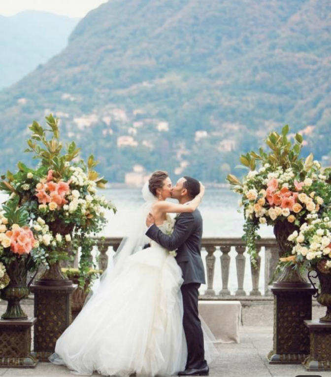 John Legend's Wedding in Como Lake. Photo credits Pinterest